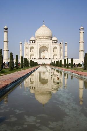view from the beautiful wonder of the world Taj Mahal, Agra, India
