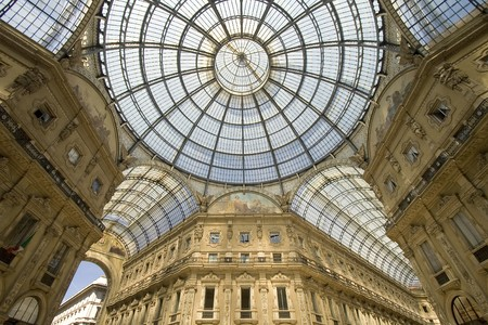 vitorio emanuelle galeries at milan, italy Stock Photo