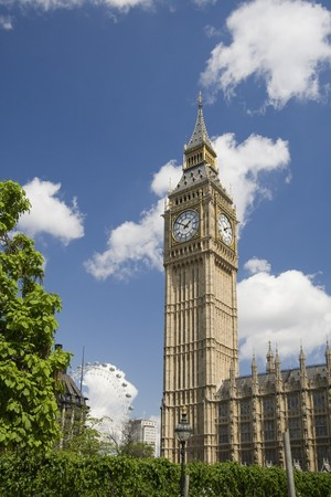 Big Ben at the Houses of Parliament, Westminster Palace, London