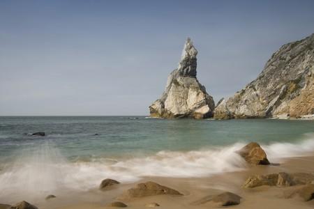 ursa beach near cape roca in portuguese coastline