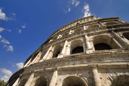 perspective from colosseum at roma, italy