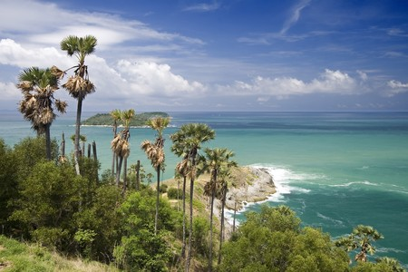 view from the Phrom Thep Cape, Phuket Island, Thailand