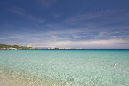 beautiful tropical beach in the Sardegna Island, Italy Stock Photo