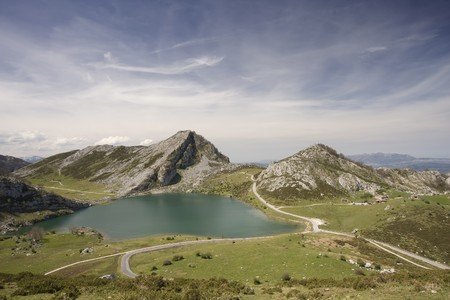 Ercina Lake at Covadonga, Spain