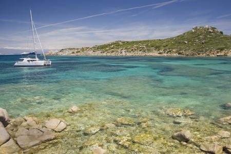 beautiful bay at north of Sardegna Island, Italy Stock Photo