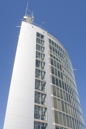 Business center of modern architecture building (steel and glass) Stock Photo