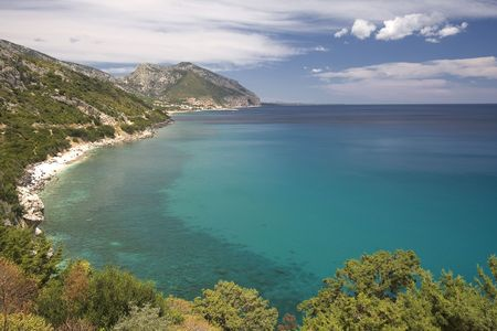 Beautiful view of costaline in summertime - Dorgali, Sardegna Island, Italy.