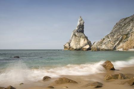 Beautiful view of costaline in summertime at Portugal