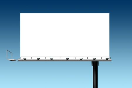 boarded: Marketing sales outdoor sign billboard against blue sky Stock Photo