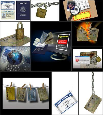 Verschillende afbeeldingen dipicting verschillende krediet gerelateerde onderwerpen