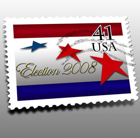 senate race: Election day 41 cents USA cancelled stamp Stock Photo