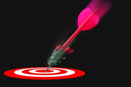 projectile: Dart and dartbaord exploding as it is hit