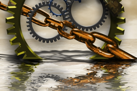 agricultural engineering: Several gears placed together closely with shadoows and highlights