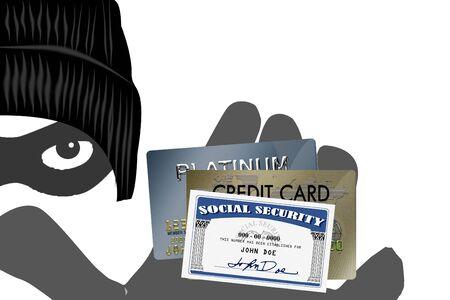 identitat: Security Alert PC-System mit Palmen und Finger