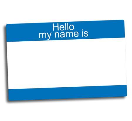 blauw en wit blanco groep ID-tag