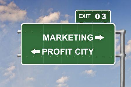 Business slogans op een verkeers bord sluiten