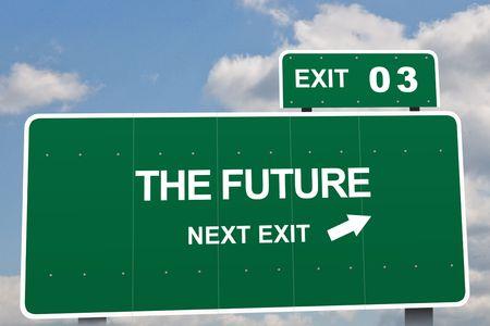 proposito: Negocios consignas firmar en una carretera de salida