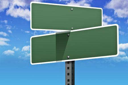 plan de accion: Negocios consignas en una carretera y la calle signos