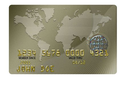 BLANK name typical plastic credit card with expiration date