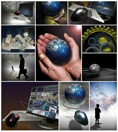 Verschillende hardware, het bedrijfsleven, en de computer beelden