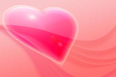 赤い 20456 ライズ層背景に shinny バレンタイン ハート 写真素材 - 2834567