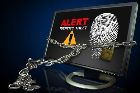 チェーンを監視し、画面上の個人情報の盗難のロック