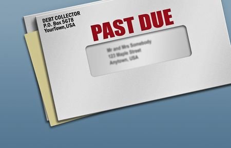 Several pieces of mail with one past due notice