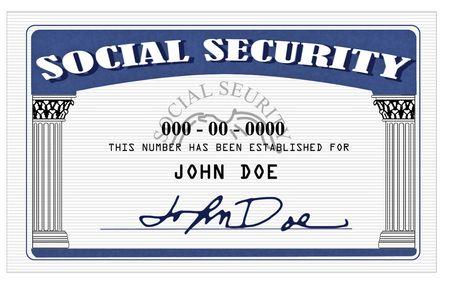 seguro social: Mock de una tarjeta de Seguro Social realizado en photoshop