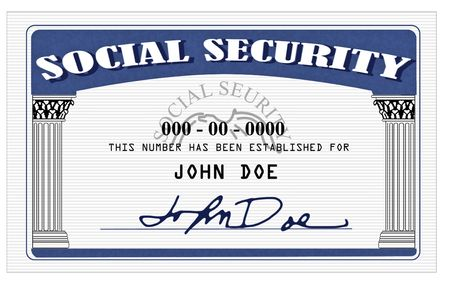 social system: Mock up of a Social Security Card done in photoshop