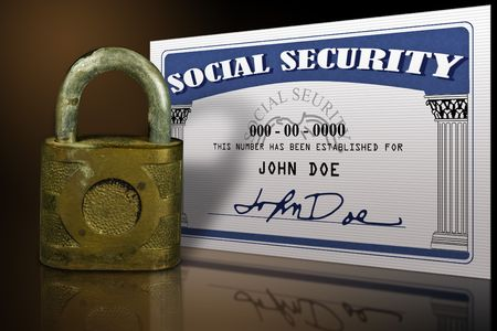 s�curit� sociale: Mock en place d'une carte de s?rit?ociale fait dans photoshop