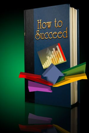 common target: Back lit book entitled How to Succeed Stock Photo