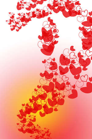 loads: Loads of hearts for valentines day against a gradient background