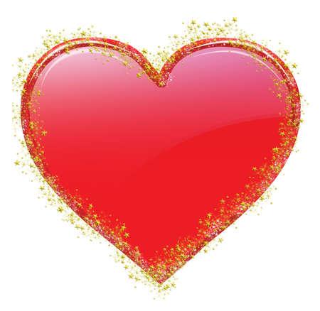 白い背景の上の小さい星 々 に shinny バレンタイン ハート 写真素材 - 2836420
