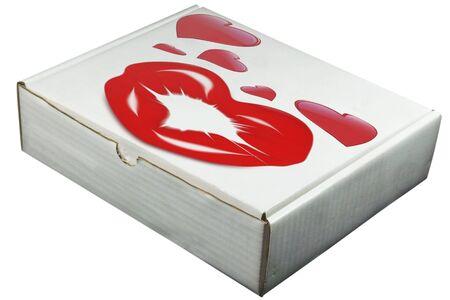 ラベルなしで開かれた白いボックスを段ボール 写真素材 - 2836542