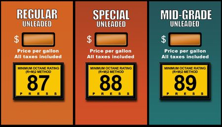 unleaded: Concept images depicting high fuel prices