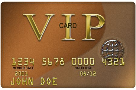 expiration: FAKE plastic credit card with expiration date (Made in Photoshop) Stock Photo