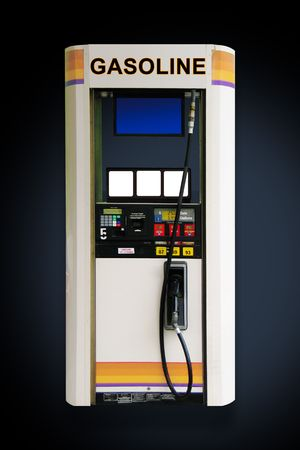 Concept Image Gas pump blank price cards and sign