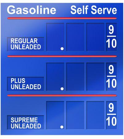 concept images: Concetto di immagini raffiguranti elevato dei prezzi del carburante