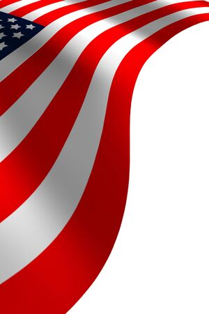 American flag flowing on a blue back ground Stock Photo - 3257022