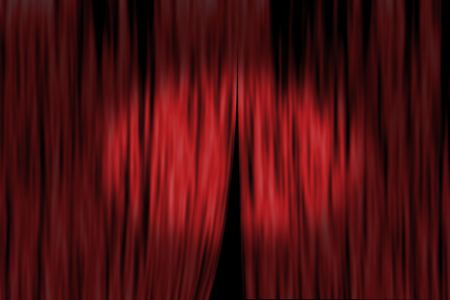 Concept image with stage curtain and spot light photo
