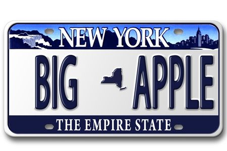 Concept image with different state on license plate