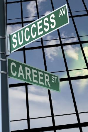 Business slogans op een verkeersbord pole