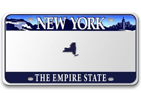 Concept beeld met een andere staat op kentekenplaat BLANK (niet een echte nummerplaat - Photoshoped) Stockfoto - 3315875