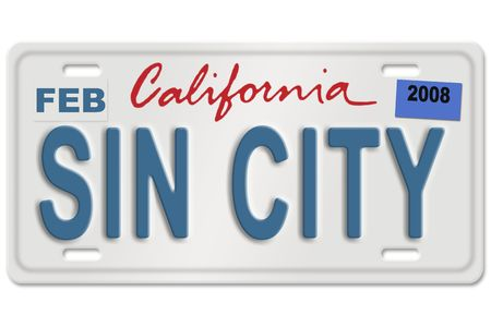 Concept image with gas nozzle on license plate Stock Photo - 3315873
