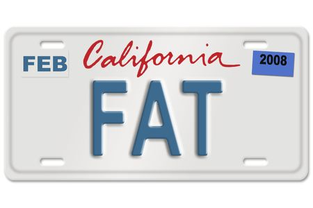 Concept image with gas nozzle on license plate Stock Photo