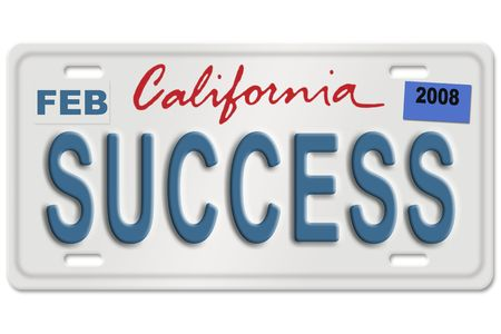 Concept image with different state on license plate (not a real license plate - photoshoped)