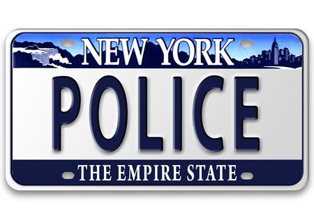 plate: Concept image with different state on license plate