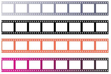 Several frames of blanl 35mm negative film