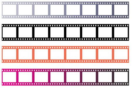 Verschillende frames van blanl 35mm negatieve film