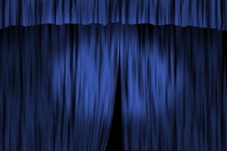 window curtains: Concept image with stage curtain and spot light